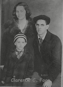 Photo of Clarence Cyrus and Ellen (SMITH) FOOR and oldest son Richard