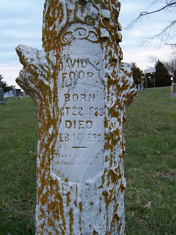David Y. Foor born Oct 22 1823 died Feb 14 1889